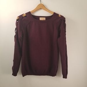 💋 Skies are blue dark purple sweater size small